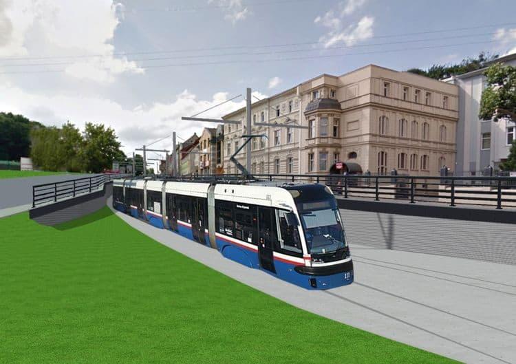 linia tramwajowa na kujawskiej